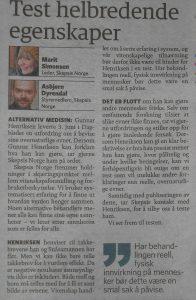 Kronikk i dagens Dagbladet